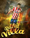 David Villa Atletico de madrid