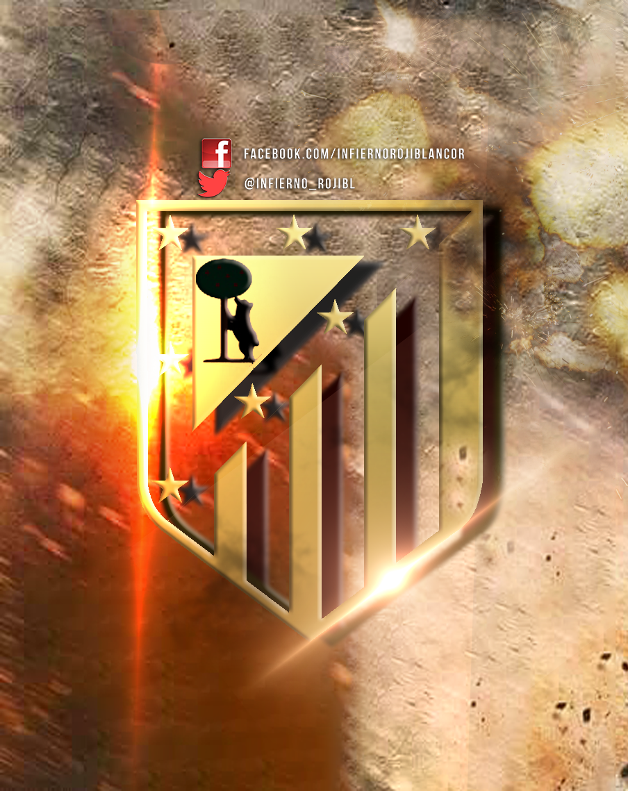 Escudo Atletico de Madrid by InfiernoRojiblanco