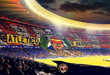 Tifo estadio Metropolitano contra el Liverpool