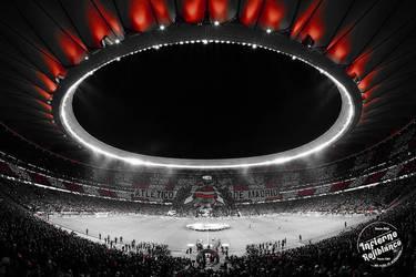 Tifo 2 estadio Metropolitano contra el Liverpool
