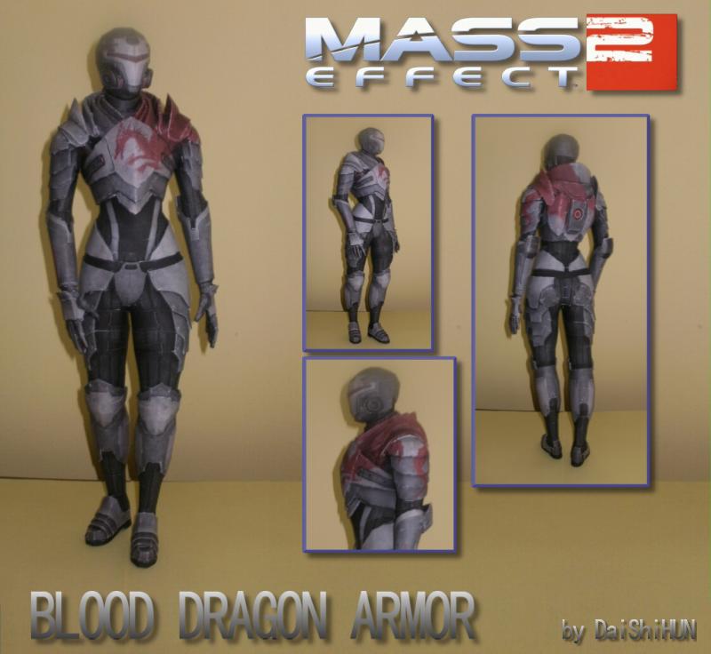 Blood Dragon Armor Papercraft by DaiShiHUN