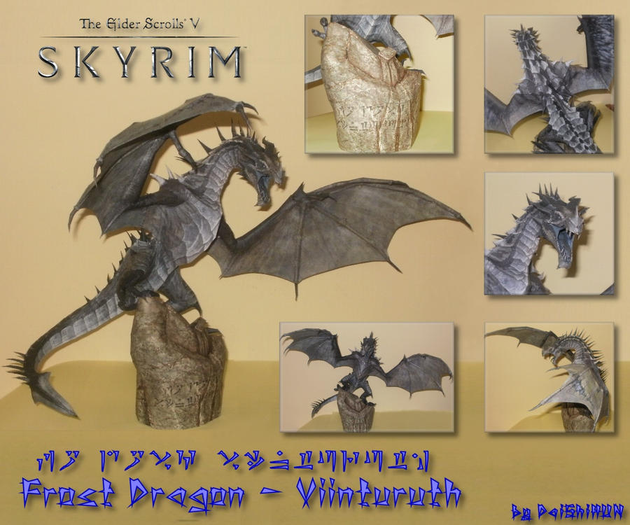 Skyrim - Frost Dragon Papercraft by DaiShiHUN on DeviantArt