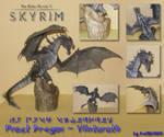 Skyrim - Frost Dragon Papercraft