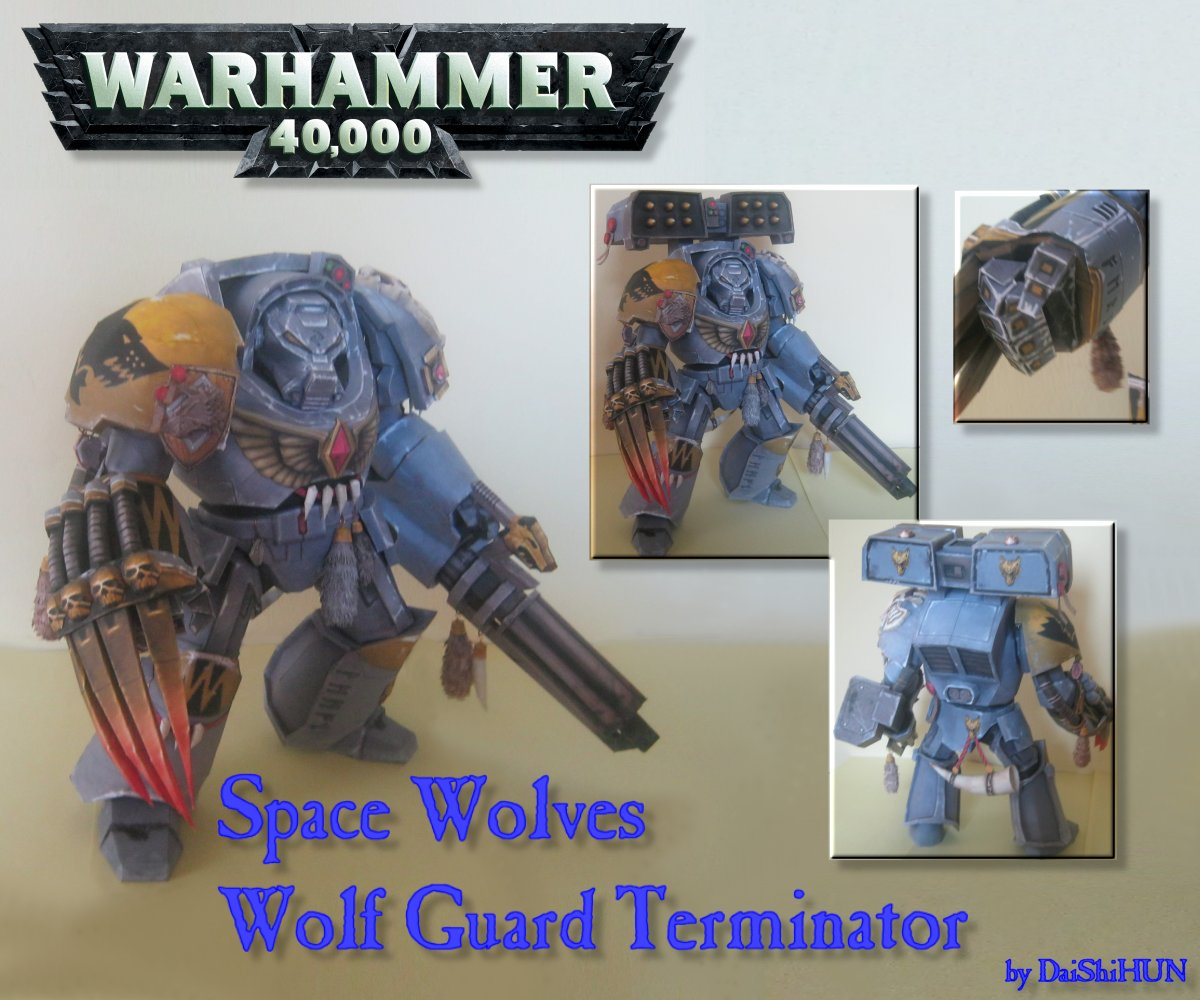 Space Wolf Terminator Papercraft by DaiShiHUN