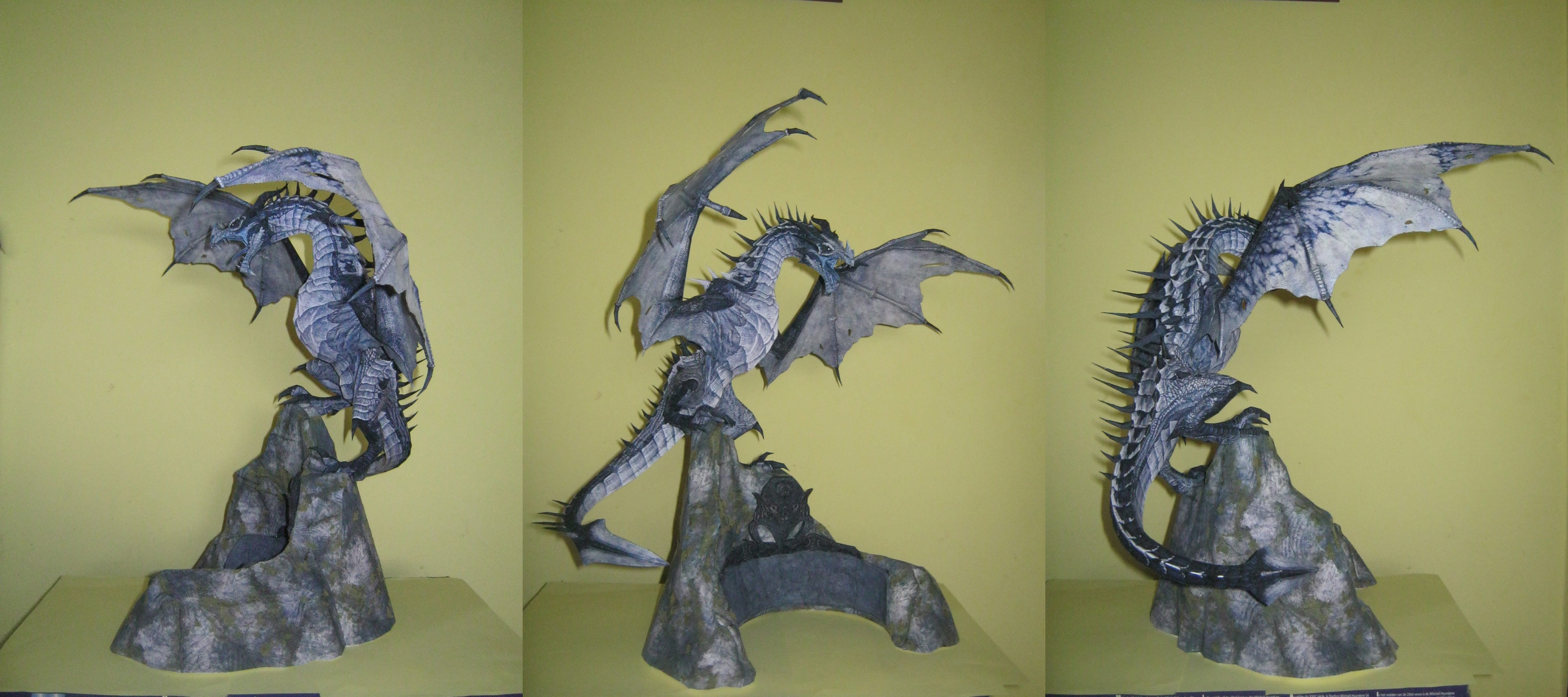 Skyrim - Frost Dragon MkII Papercraft by DaiShiHUN
