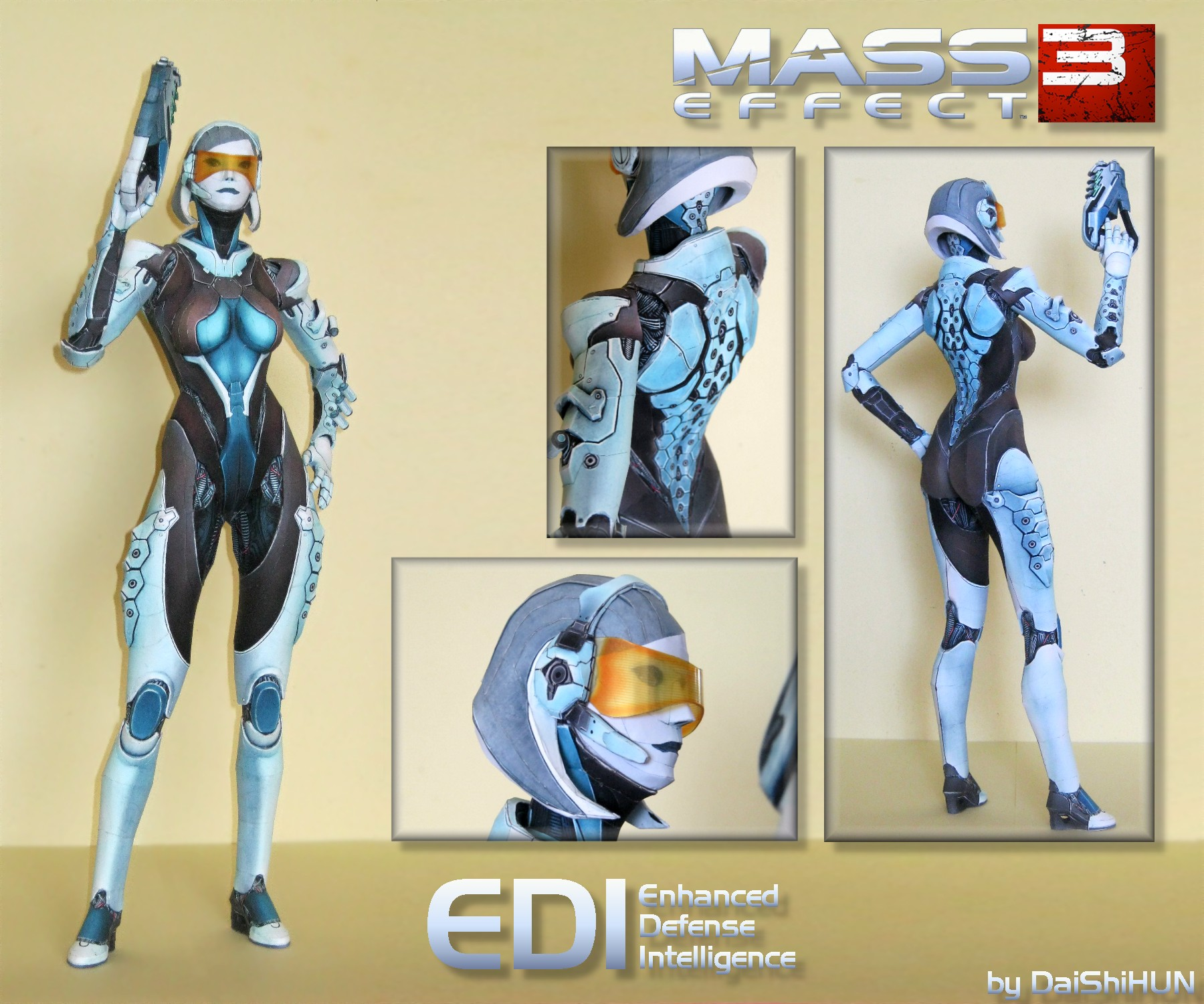 Mass Effect 3 EDI Papercraft