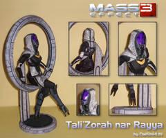 Tali'Zorah nar Rayya Papercraft (Citadel DLC) by DaiShiHUN