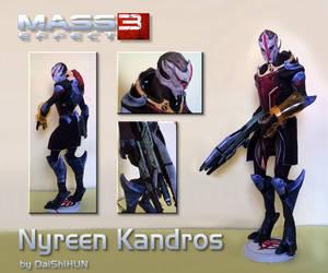 Nyreen Kandros Papercraft (Omega DLC)