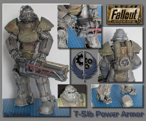 T-51b Power Armor papercraft