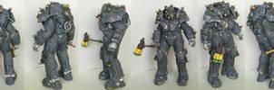 Vault-Tec Security Power Armor Papercraft by DaiShiHUN