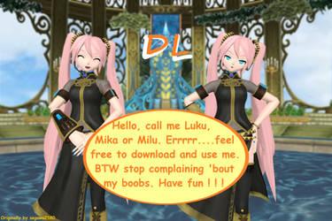 MMD DT Miku Cosplaying Luka Model Download by segawa2580