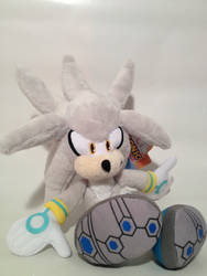 .:SOLD:.  Sonic Jazwares Silver the Hedgehog Plush
