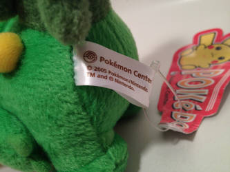 Official Pokedoll Sceptile left tush tag view