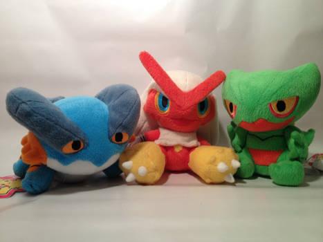Pokemon Three Final Evolution Starters Pokedolls