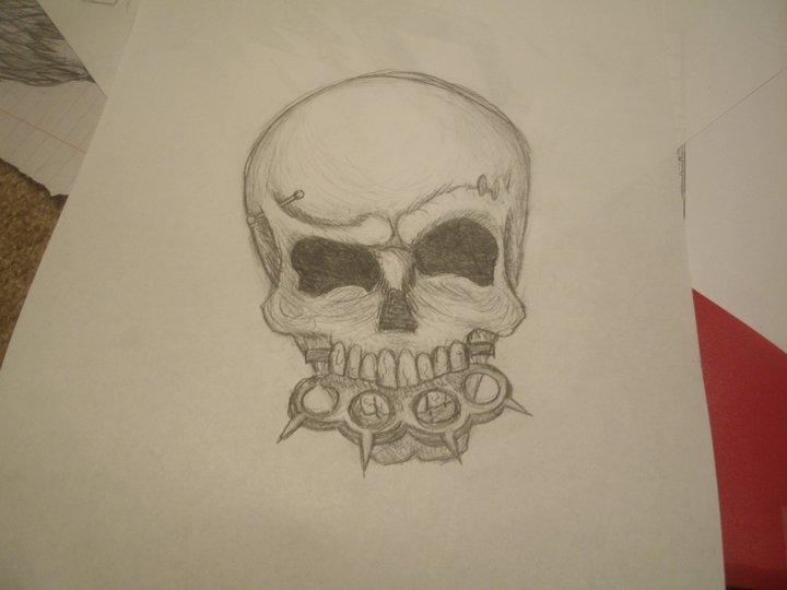 brass knuckle skull tattoo by minneman163 on deviantart. Black Bedroom Furniture Sets. Home Design Ideas