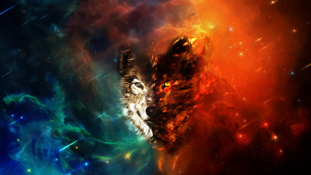 Wolf of Space by yuumei on DeviantArt