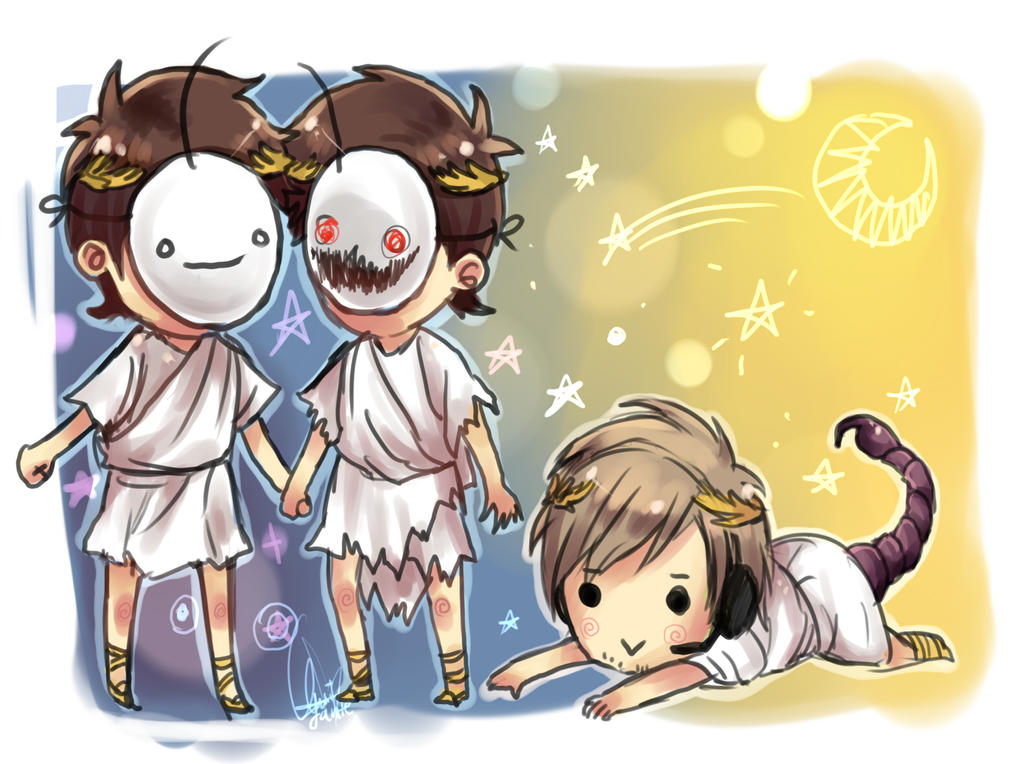 Pewdiepie/Cry zodiacs by Kaktus-chan