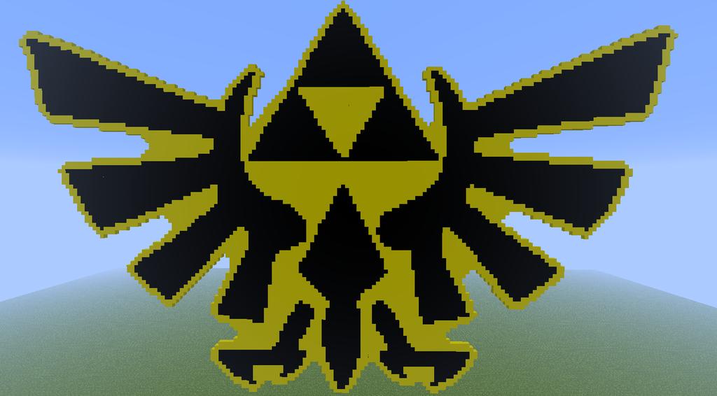legend of zelda necklace logo pixel art minecraft by ...