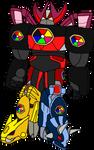 Dino Megazord (Power Rangers AU)