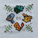 Pokemon emboidery for a biscornu (a little pillow)
