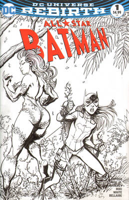 Batgirl and Poison Ivy Sketch Cover