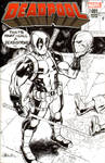 Deadpool v Deathstroke (kinda) sketch cover by J-WRIG
