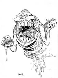 Slimer Chow Down by J-WRIG