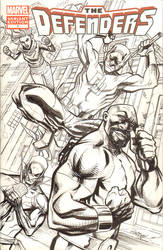 The Defenders Sketch Cover