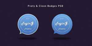 Pretty and Clean Badges PSD
