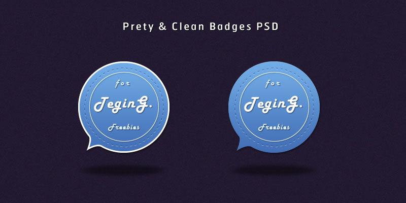 Badge Web Element UI PSD Design