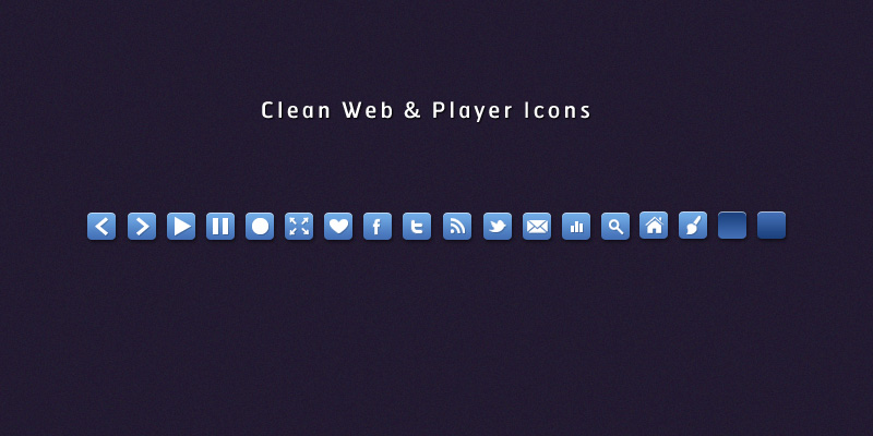 Web and Video Player Icons by SuTegin