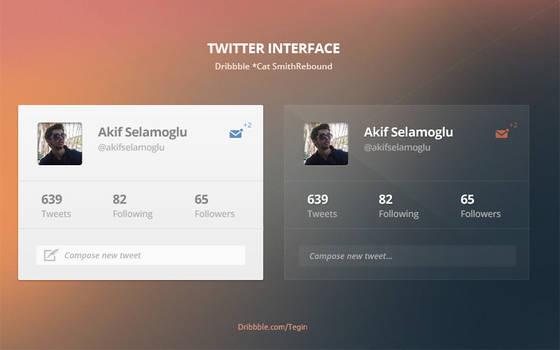 Twitter Interface*Dribbble Rebound