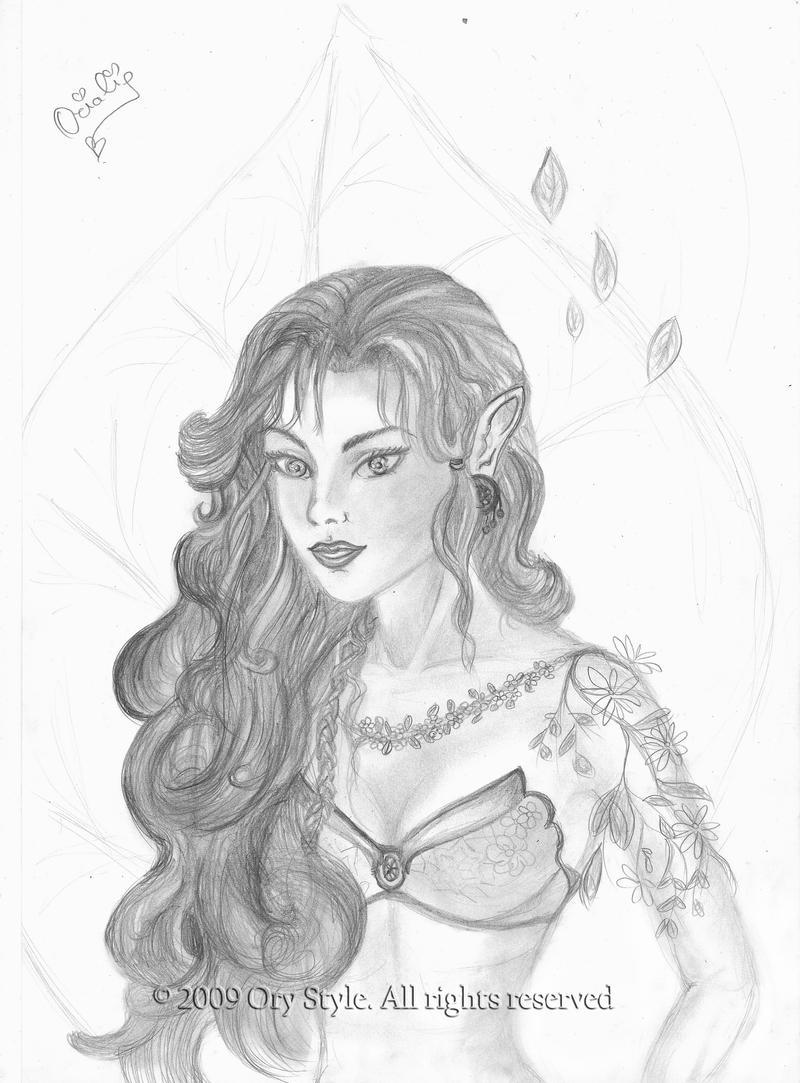 Sketch of Arya from Eragon by Eragon And Arya Drawings