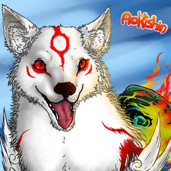 Amaterasu avie (Gift for Aokishin) by demonashley