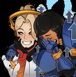 Overwatch, Mercy and Pharah