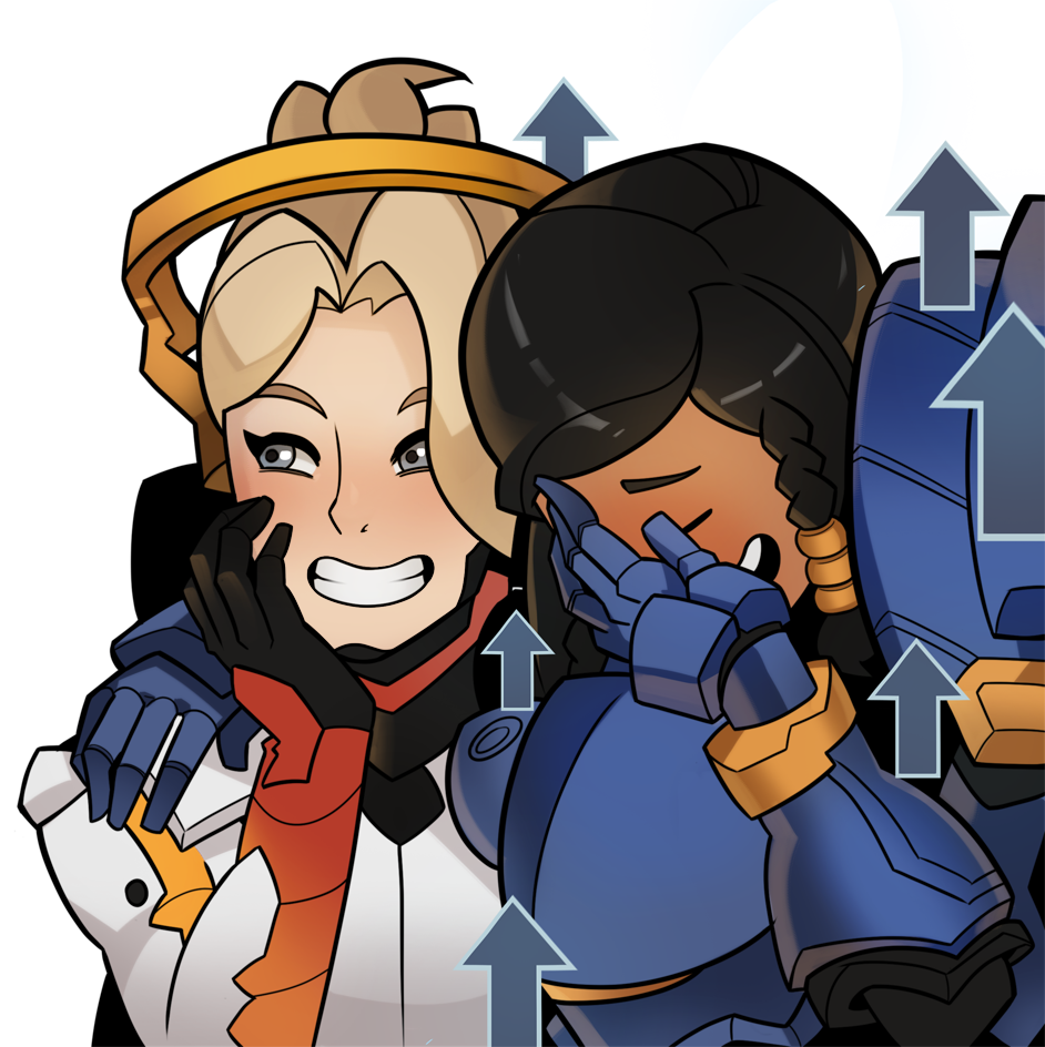 overwatch mercy and pharah by splashbrush on deviantart
