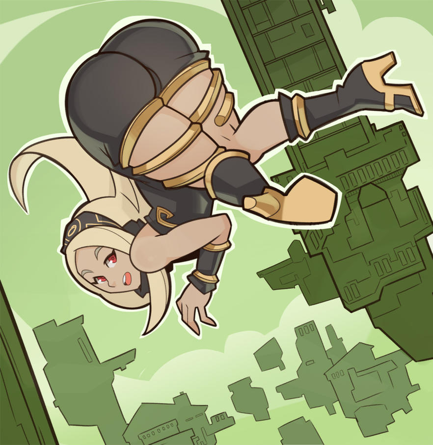 Gravity Rush, Kat by SplashBrush