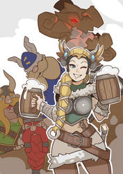 Mercy and The Lost Vikings by SplashBrush