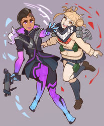 Sombra and Toga by SplashBrush