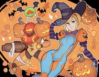 Metroid, Halloween by SplashBrush