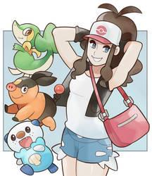 Pokemon, Hilda by SplashBrush