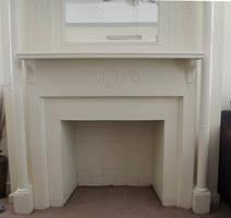 White Fireplace (non working) by itznikki530