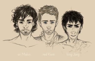 Makin, Kent, and Jorg by jabroberg