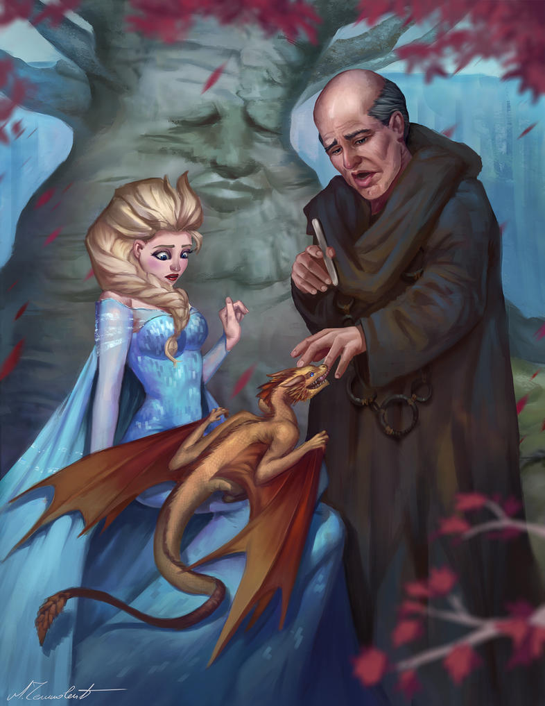 Fan Art Mashup Generator: Elsa as Night Queen by MilicaClk