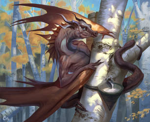 Birch dragon by MilicaClk