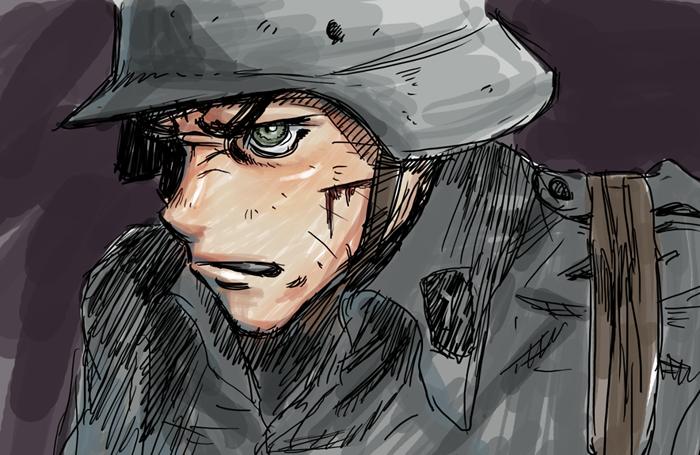 Daily Doodle German Soldier by torokun