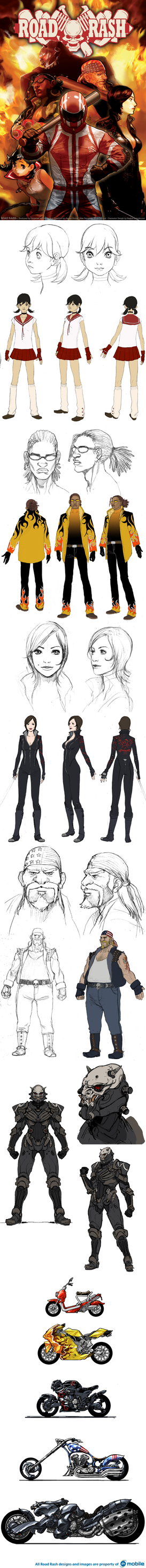 Road Rash Official Art 01 by torokun