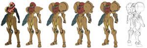 Metroid Samus Aran suit design