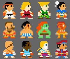 Super Street Fighter Bros 8bit by torokun