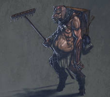 Pig Monster Warrior by torokun